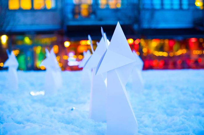 Giant Origami fox Trondheim Norway ISFIT13