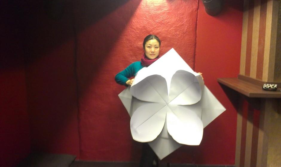 ISFIT 13 Giant Origami lotus