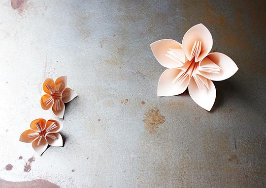 Blossom Origami Free tutorial collaboration with a Brighton based style blog, A Quiet Style. Photo by Emma Harris