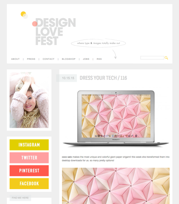 Design Love Fest Coco Sato Free origami desktop screen wallpaper downloads