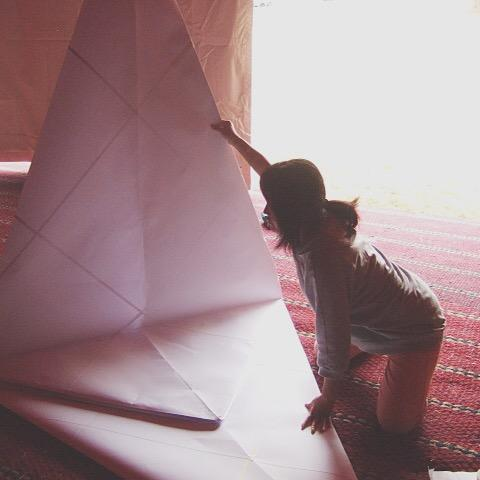 Giant Origami Performance for Events