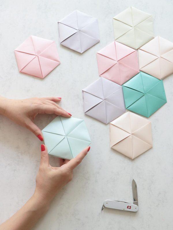 Hexagon Letter Origami